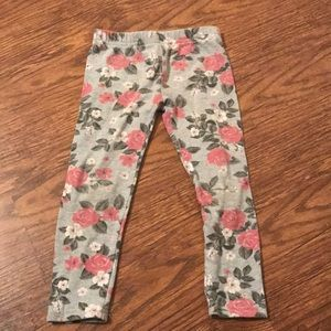 Carter's girls floral leggings size 4T